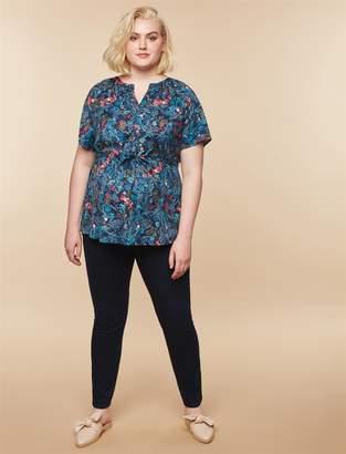 Motherhood Maternity Plus Size Secret Fit Belly Skinny Maternity Jeans- Dark