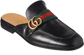 Gucci Princetown Double G Leather Slipper