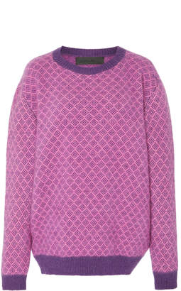 The Elder Statesman Punto Diamond Cashmere Sweater