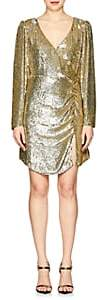 Roxy retrofête Women's Ruched Sequined Dress-Gold