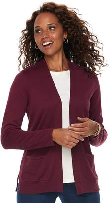 Croft & Barrow Women's Classic Open-Front Cardigan