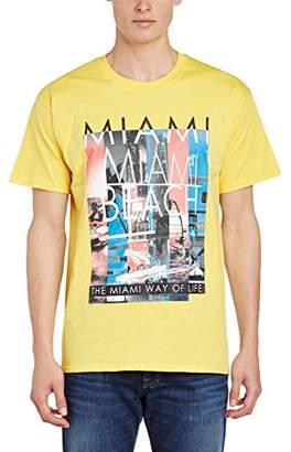 cuello Miami regular Beach manga corta de corte redondo para con Camiseta de hombres y qv8IPwq