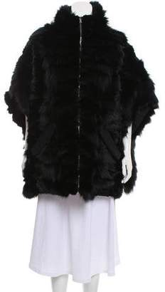 Marni Fox Fur Oversize Cape