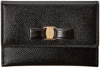 Salvatore Ferragamo Vara Bow Leather Card Case
