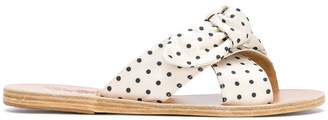 Ancient Greek Sandals Thais polka-dot sandals