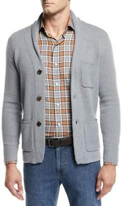 Peter Millar Men's Wool Shawl-Collar Cardigan