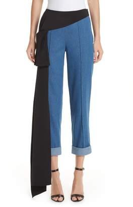 Hellessy Romeo Silk Panel Crop Jeans