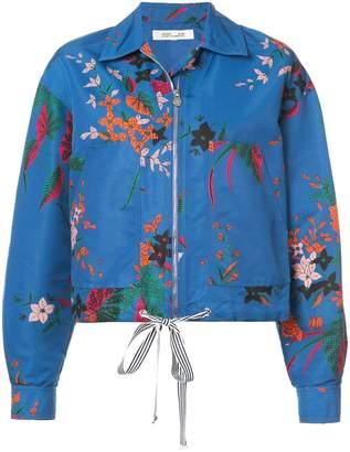 Diane von Furstenberg floral cropped jacket