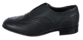 Steven Alan Leather Round-Toe Oxfords