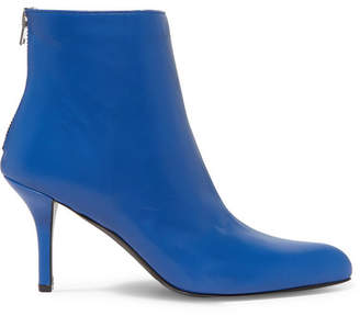 Marni Leather Ankle Boots - Cobalt blue