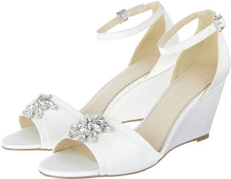 Monsoon Diana Diamante Jewel Wedge Heels