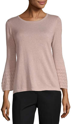 Liz Claiborne Long Sleeve Round Neck Pullover Sweater