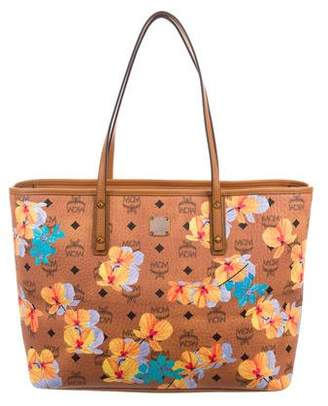 MCM Floral Visetos Essential Top Zip Shopper w/ Tags