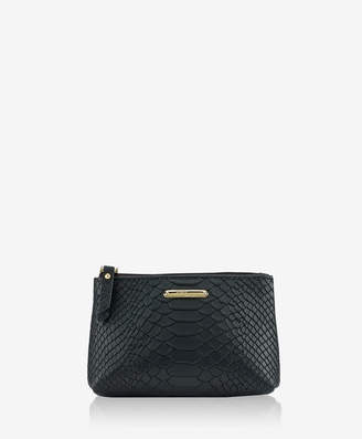 GiGi New York Small Cosmetic Case Embossed Python