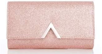 Quiz Rose Glitter Metal Trim Bag