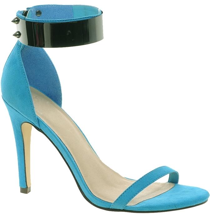 Asos HONG KONG Heeled Sandals - Blue