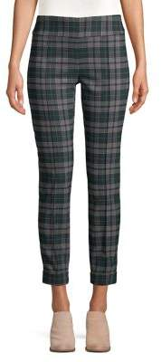 Lord & Taylor Cropped Plaid Trousers