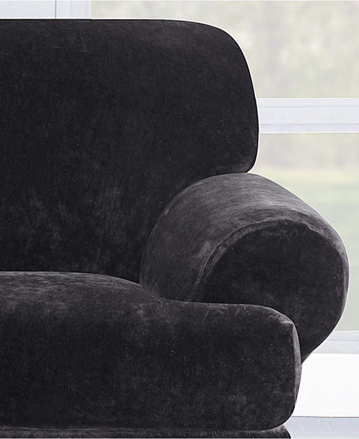 Sure Fit Stretch Plush 2-Pieve T-Loveseat Slipcover Bedding