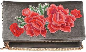Urban Expressions Velvet Embroidered Clutch