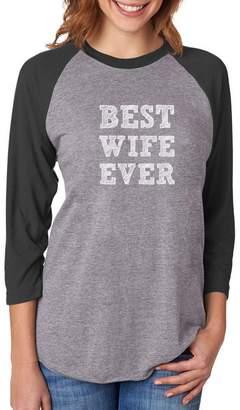 DAY Birger et Mikkelsen TeeStars BEST WIFE EVER Valentine's Gift From Husband Women 3/4 Women Baseball Shirt