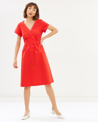 J.Crew Gelatin Wrap Solid Shirt Dress