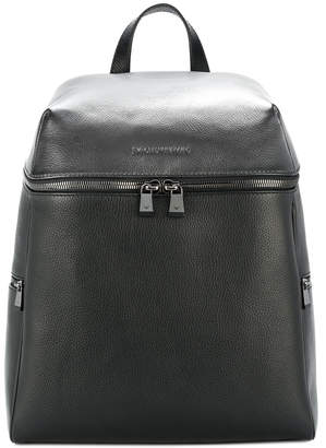 Emporio Armani zipped front logo backpack