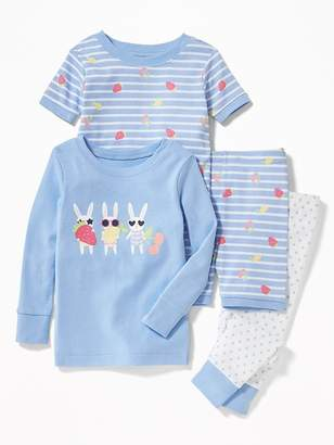 Old Navy Bunny-Graphic 4-Piece Sleep Set for Toddler & Baby