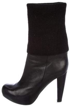 Loeffler Randall Wendy Leather Mid-Calf Boots