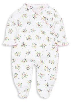 Kissy Kissy Baby Girl's Petite Pansies Pima Cotton Footie