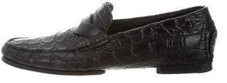 Tom Ford Alligator Penny Loafers