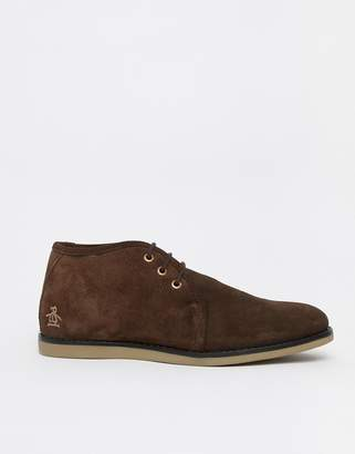 Original Penguin Suede Desert Boots in Brown