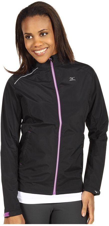 Mizuno Elixir Jacket (Black/Bright Violet) - Apparel