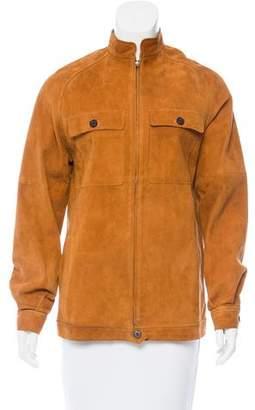 Joseph Suede Zip-Up Jacket