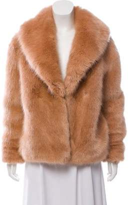 Opening Ceremony Wool-Blend Faux Fur Jacket