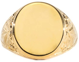 Serge Denimes Gold Plated Silver Thistle Ring