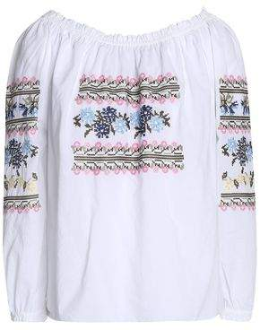 Needle & Thread Gathered Embroidered Cotton Blouse