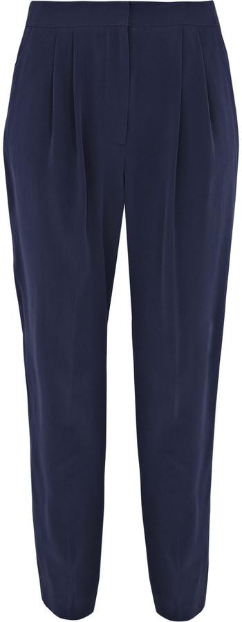 Tibi Cropped silk peg-leg pants