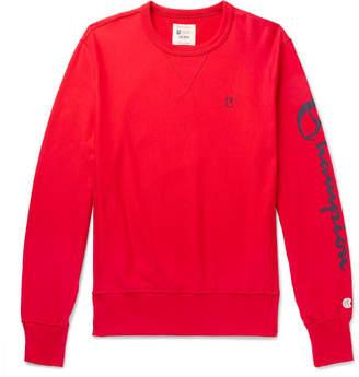 Todd Snyder + Champion Logo-Print Loopback Cotton-Jersey Sweatshirt