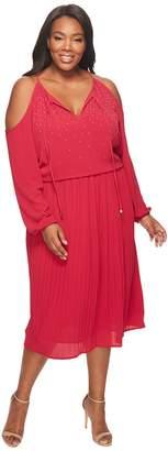 MICHAEL Michael Kors Size Embellished Cold Shoulder Boot Dress Women's Dress