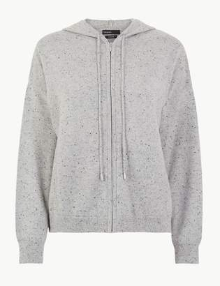 AutographMarks and Spencer Pure Cashmere Zipped Crop Hoodie