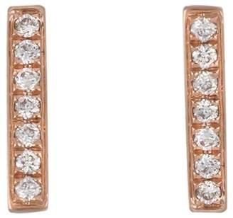 Bony Levy 18K Rose Gold Diamond Bar Earrings - 0.10 ctw
