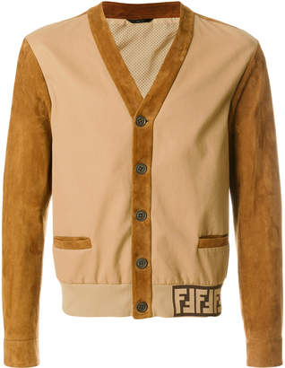 Fendi mixed fabric jacket