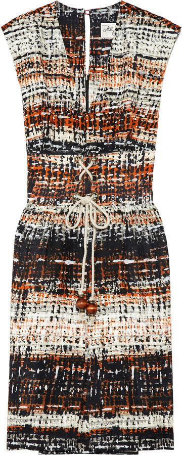 Milly Masai printed linen dress