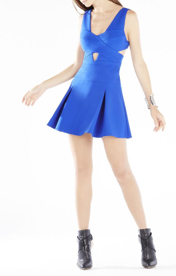 BCBGMAXAZRIAHarlie Cutout Cross Bodice Dress