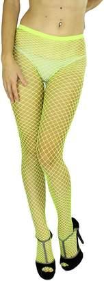Blend of America ToBeInStyle Women's Diamond Net Spandex Nylon Pantyhose - Queen Size - One Size Plus