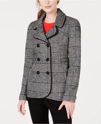 Maison Jules Plaid Peacoat Jacket