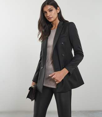 Reiss Our last order date for Christmas has now passed ALEIDA DOUBLE BREASTED BLAZER Black