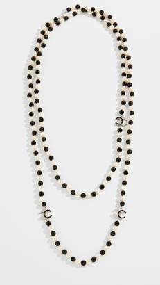 Chanel What Goes Around Comes Around Crystal CC Necklace