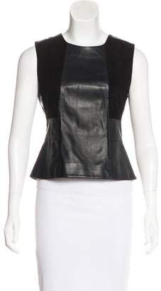 Belstaff Leather Sleeveless Top