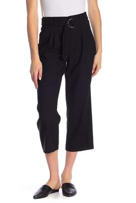 Frame Pleated Wool Cropped Pants